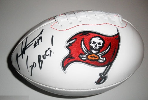 MIKE WILLIAMS AUTOGRAPHED FOOTBALL TAMPA BAY BUCCANEERS