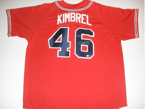 CRAIG KIMBREL AUTOGRAPHED ATLANTA BRAVES RED SUNDAY JERSEY