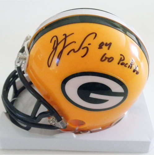 DJ WILLIAMS PACKERS SIGNED MINI HELMET