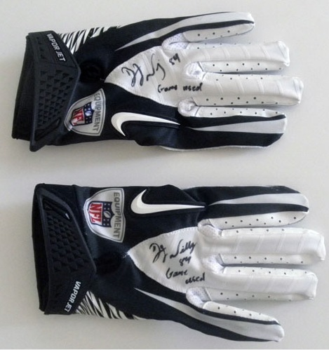 DJ WILLIAMS GAME USED GLOVES