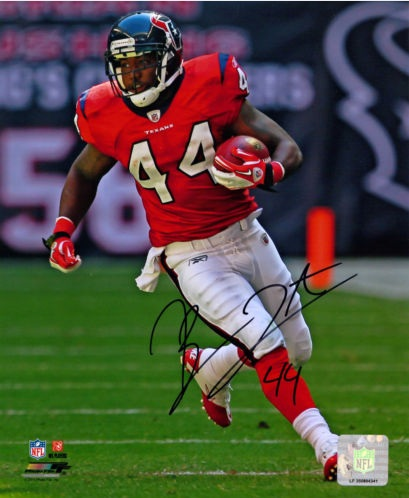 BEN TATE SIGNED HOUSTON TEXANS 8X10