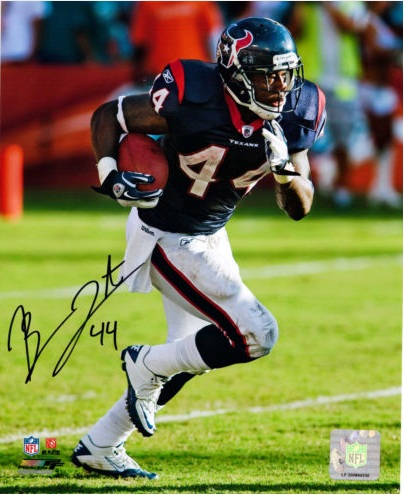 BEN TATE SIGNED HOUSTON TEXANS 8X10 PHOTO NFL