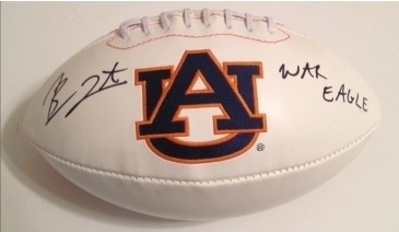 BEN TATE SIGNED AUBURN TIGERS FOOTBALL