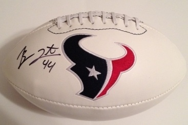 BEN TATE SIGNED HOUSTON TEXANS FOOTBALL