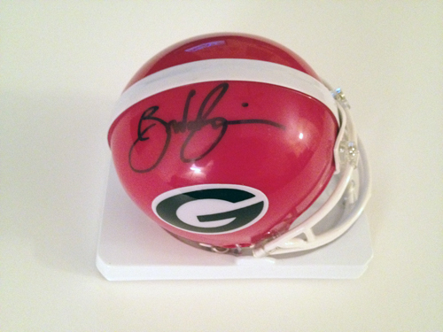 BRANDON BOYKIN SIGNED GEORGIA BULLDOGS MINI HELMET OUTBACK BOWL