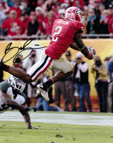 BRANDON BOYKIN SIGNED GEORGIA BULLDOGS 8X10 PHOTO OUTBACK BOWL