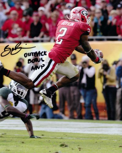 BRANDON BOYKIN SIGNED GEORGIA BULLDOGS 8X10 PHOTO OUTBACK BOWL MVP