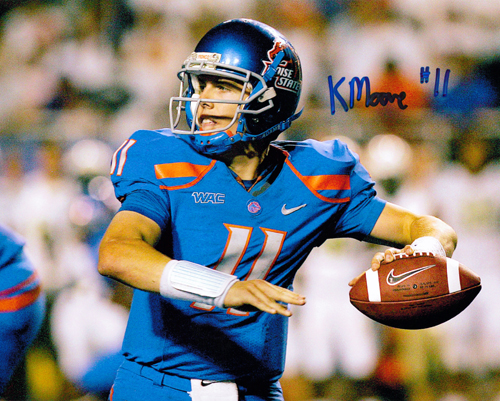 KELLEN MOORE SIGNED BOISE STATE BRONCOS 16X20 PHOTO