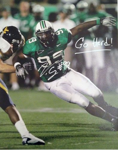 VINNY CURRY SIGNED MARSHALL THUNDERING HERD 16X20 PHOTOGRAPH NCAA