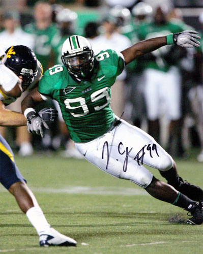 VINNY CURRY SIGNED MARSHALL THUNDERING HERD 8X10 PHOTOGRAPH