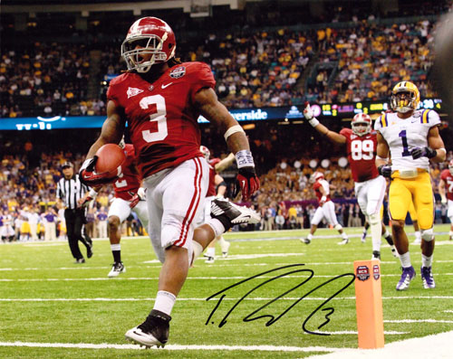 TRENT RICHARDSON SIGNED 8X10 PHOTO NATIONAL CHAMPIONSHIP RUN