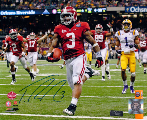 TRENT RICHARDSON SIGNED 8X10 PHOTO NATIONAL CHAMPIONSHIP PANINI