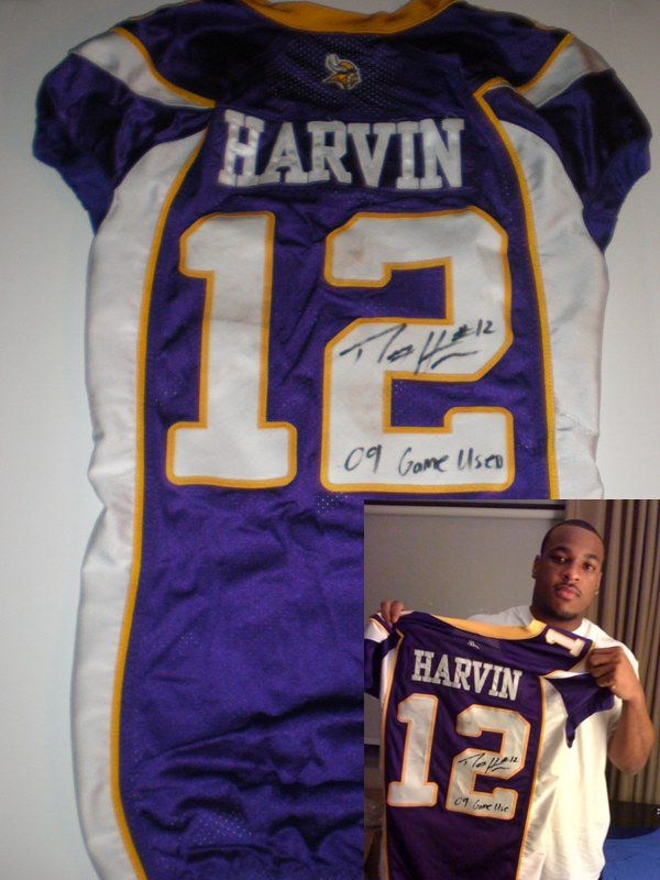 PERCY HARVIN GAME USED JERSEY MINNESOTA VIKINGS ROOKIE