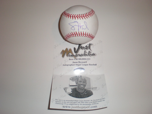 JASON HEYWARD SIGNED BASEBALL ATLANTA BRAVES