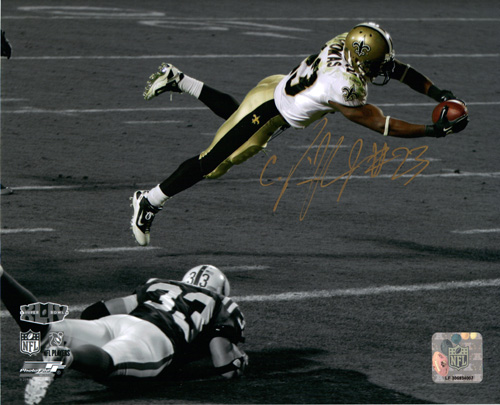PIERRE THOMAS SIGNED 8X10 SPOTLIGHT