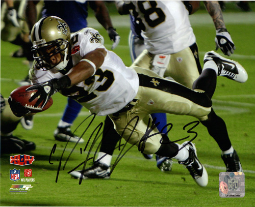 PIERRE THOMAS SIGNED 8X10 SUPER BOWL