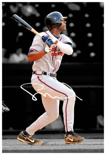 JASON HEYWARD SIGNED CANVAS PRINT ATLANTA BRAVES