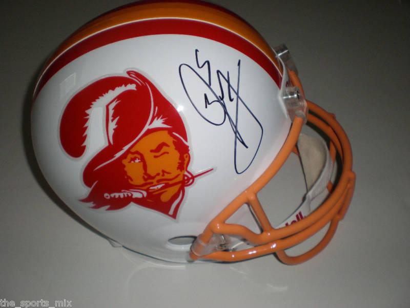 JOSH FREEMAN THROWBACK AUTOGRAPHED TAMPA BAY PRO HELMET