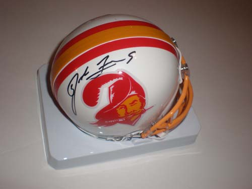 JOSH FREEMAN AUTOGRAPHED THROWBACK TAMPA BAY MINI HELMET