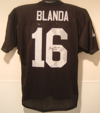 GEORGE BLANDA SIGNED RAIDERS JERSEY