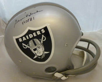 GEORGE BLANDA FULL SIZE RAIDERS HELMET R/K