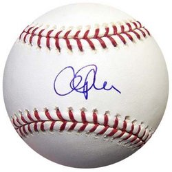 CLIFF LEE AUTOGRAPHED BASEBALL TEXAS RANGERS MLB HOLO