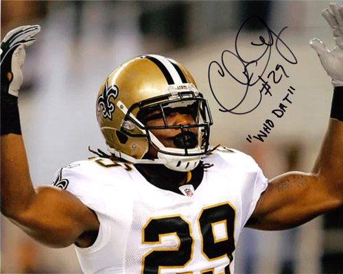 CHRIS IVORY AUTOGRAPHED SAINTS 8X10 PHOTO
