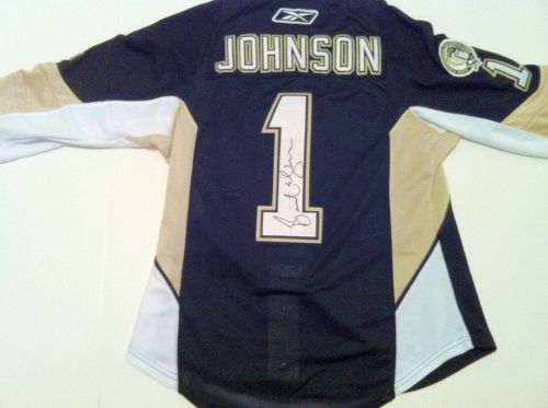 BRENT JOHNSON AUTOGRAPHED PITTSBURGH PENGUINS JERSEY