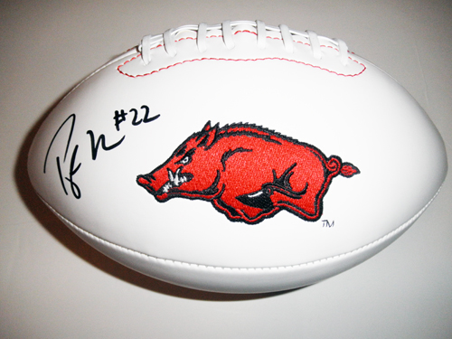 PEYTON HILLIS AUTOGRAPHED ARKANSAS FOOTBALL