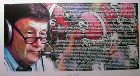 LARRY MUNSON 12X24 POSTER GEORGIA BULLDOGS