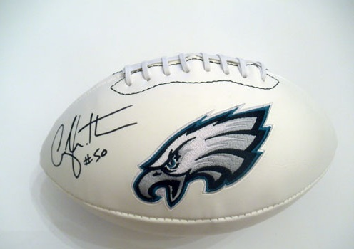 CASEY MATTHEWS SIGNED PHILADELPHIA EAGLES FOOTBALL NFL